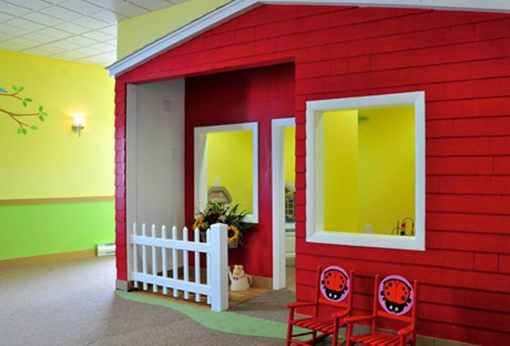 Fun playhouse in waiting room