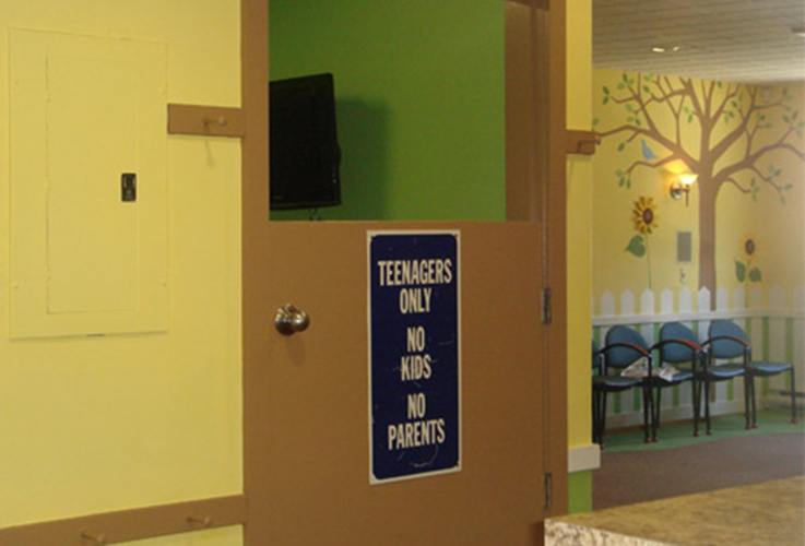 Teenager waiting room