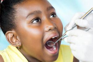girl dental exam pediatric dentist Auburn MA